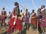 Alamal, Ritual Festival, Maasai Village (Manyatta), Rift Valley, Southeast Kenya Photographic Print by Bruno Barbier