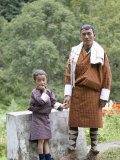 Father and Son, Trongsa, Bhutan Photographic Print by Angelo Cavalli