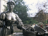 Bronze Statue of Molly Malone, Grafton Street, Dublin, County Dublin, Eire (Ireland) Photographic Print by Bruno Barbier