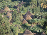 Village in the Land of the Gourague, Hosana Region, Shoa Province, Ethiopia, Africa Photographic Print by Bruno Barbier