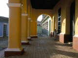 Arcades of the Maison Romantique, Town of Trinidad, Unesco World Heritage Site, Cuba Photographic Print by Bruno Barbier