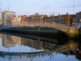 The Ha'Penny Bridge Over the Liffey River, Dublin, County Dublin, Eire (Ireland) Photographic Print by Bruno Barbier