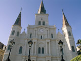 St. Louis Cathedral, Jackson Square, New Orleans, Louisiana, USA Photographic Print by Bruno Barbier
