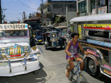Street Scene, Manila, Island of Luzon, Philippines, Southeast Asia Photographic Print by Bruno Barbier