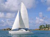 Catamaran, Island of Praslin, Seychelles, Indian Ocean, Africa Photographic Print by Bruno Barbier