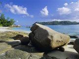 Anse De La Possession (Possession Beach), Northwest Coast, Island of Praslin, Seychelles Photographic Print by Bruno Barbier