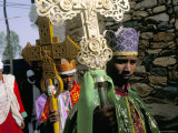 Palm Sunday Procession, Axoum (Axum) (Aksum), Tigre Region, Ethiopia, Africa Photographic Print by Bruno Barbier