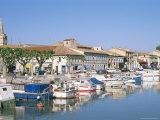 Quai De La Paix, Le Canal Du Rhone at Sete, Town of Beaucaire, Gard, Languedoc Roussillon, France Photographic Print by Bruno Barbier