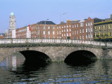 Father Mathey Bridge, Liffey River, Dublin, County Dublin, Eire (Ireland) Photographic Print by Bruno Barbier