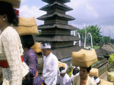 Batara Turum Kabeh Ceremony, Hindu Temple of Besakih, Island of Bali, Indonesia Photographic Print by Bruno Barbier