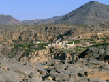 Village of Al Ain, Al Jabal Al Akkar Region, Hajar Mountains, Sultanate of Oman, Middle East Photographic Print by Bruno Barbier