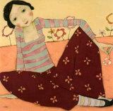 Un Printemps Abricot Print by Cécile Veilhan