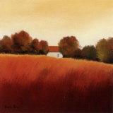 Scarlet Landscape IV Prints by Hans Paus