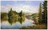 Siberian Lake Plakater af Helmut Glassl