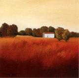 Scarlet Landscape II Prints by Hans Paus