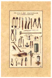 Outils de Jardinage, la Tondeuse Prints by Laurence David