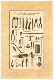 Outils de Jardinage, la Tondeuse Prints by Laurence David