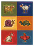 Six Petits Animals Poster by Raphaele Goisque