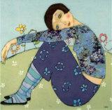 Un Printemps Turquoise Poster von Cécile Veilhan