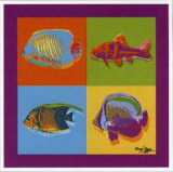Happy Fishes Prints by Bruno Pozzo