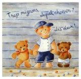 Trop Mignons, Lequel Choisir Prints by Joëlle Wolff