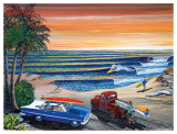 Sunset Surf Posters by Gary Birdsall