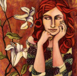 La Reponse Est dans les Fleurs Print by Delphine Cossais
