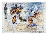 De l'Ile de Batz aux Sept Iles Posters by Gildas Flahault