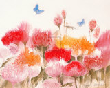 Floral Mist I Prints by Richard Akerman