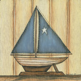 Sailboat with Star Art by Kim Lewis