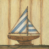 Blue Stripe Sailboat Pósters por Kim Lewis