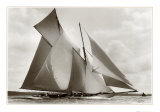 The Schooner Susanne Print by Frank Beken