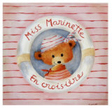 Miss Marinette en Croisiere Prints by Joëlle Wolff