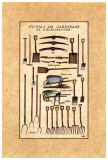 Outils de Jardinage, les Brouettes Print by Laurence David