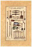 Outils de Jardinage, les Brouettes Print by Laurence David