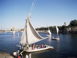 Feluccas on the River Nile, Aswan, Egypt, North Africa, Africa Photographic Print by Philip Craven