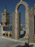 Rooftop View Over Mosque, Tunis, Tunisia, North Africa, Africa Photographic Print by Ethel Davies