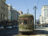 St. Charles Streetcar, New Orleans, Louisiana, USA Photographic Print by Ethel Davies