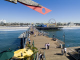 Santa Monica Pier, Santa Monica, California, USA Photographic Print by Ethel Davies