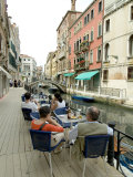Canalside Cafe, Venice, Veneto, Italy Photographic Print by Ethel Davies