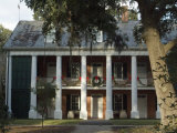 Shadows on the Teche Plantation House, New Iberia, Louisiana, USA Photographic Print by Ethel Davies