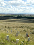 Site of Massacre, Including Where Custer Fell, Little Big Horn, Montana, USA Photographic Print by Ethel Davies