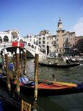 Grand Canal and the Rialto Bridge, Unesco World Heritage Site, Venice, Veneto, Italy Photographic Print by Philip Craven
