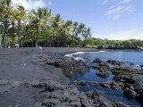 Punaluu Black Sand Beach, Island of Hawaii (Big Island), Hawaii, USA Photographie par Ethel Davies