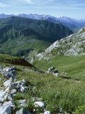Col De La Colombiere and Mountains, Near La Clusaz, Rhone Alpes, France Photographic Print by Ethel Davies
