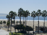 Santa Monica Beach, Santa Monica, California, USA Photographic Print by Ethel Davies