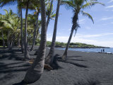 Punaluu Black Sand Beach, Island of Hawaii (Big Island), Hawaii, USA Photographic Print by Ethel Davies