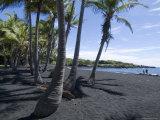 Punaluu Black Sand Beach, Island of Hawaii (Big Island), Hawaii, USA Photographic Print by Ethel Davies
