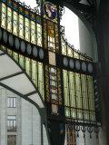 Stained Glass Art Nouveau (Jugendstil) Detail, Municipal House, Prague, Czech Republic Photographic Print by Ethel Davies