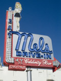 Diner Sign, Hollywood, Los Angeles, California, USA Photographic Print by Ethel Davies